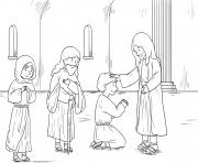 Jesus in Hometown Mark 6_1 6_04 dessin à colorier