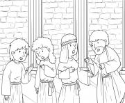 Jesus Demonic in Synagogue Mark 1_21 28_04 dessin à colorier