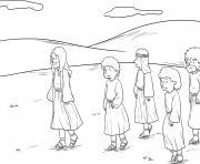 Jesus in Hometown Mark 6_1 6_01 dessin à colorier