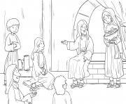 Martha Mary Luke 10_38 42_04 dessin à colorier