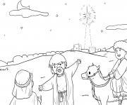 Wise Men Seek Matthew 2_1 15_01 dessin à colorier