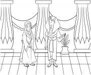 Abram and Sarai Genesis 28_10 22 03 dessin à colorier
