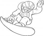coloriage backflip snowboard sport hiver