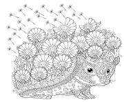 herisson mandala adulte dessin à colorier