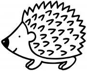 petit herisson porc epics dessin à colorier