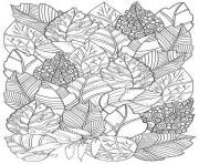 feuilles automne dessin à colorier