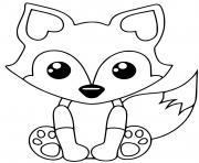 renard roux facile mignon avec une longue queue touffue dessin à colorier