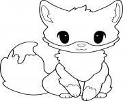 renard mignon animal nocturne dessin à colorier