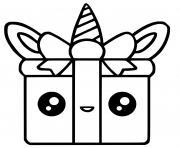 licorne cadeau facile mignon dessin à colorier