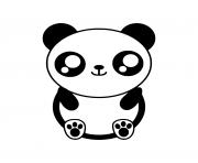 facile mignon panda dessin à colorier