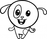 facile mignon chien cartoon dessin à colorier