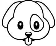 chien kawaii dessin à colorier
