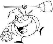 une citrouille heureuse pour le 31 octobre dessin à colorier