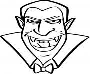 dracula vampire immortel dessin à colorier