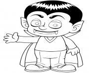 dracula vampire quand il etait enfant dessin à colorier