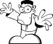 Drole Cartoon Frankenstein dessin à colorier