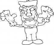 Frankenstein Costume Halloween dessin à colorier