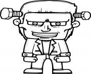 Cartoon Frankenstein en costume dessin à colorier