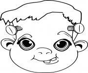 joyeux Frankenstein avec le sourire dessin à colorier