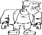 le monstre Frankenstein dessin à colorier