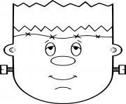 Simple Frankenstein Face dessin à colorier