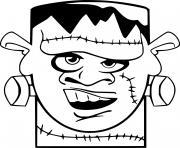 Monstre Frankenstein Halloween dessin à colorier
