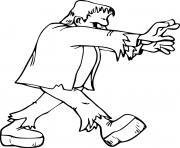 Simple Frankenstein Walking dessin à colorier