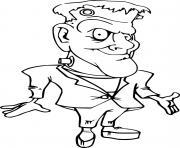 Simple Funny Frankenstein dessin à colorier