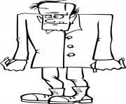 Frankenstein creature monstrueuse dessin à colorier