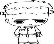 Bebe Frankenstein enfants costume dessin à colorier