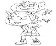vampirina et gregoria cherchent ses amies dessin à colorier