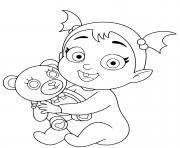 vampirina bebe enfant petite fille dessin à colorier