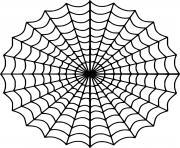 belle toile araignee dessin à colorier