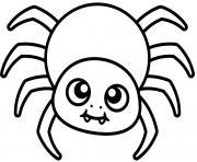 mignon araignee facile kid dessin à colorier