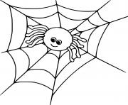 mignon araignee dessin à colorier