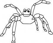 Cartoon Scary araignee dessin à colorier