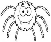mignon smiling araignee dessin à colorier