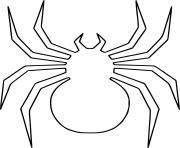 Huge araignee insecte dessin à colorier