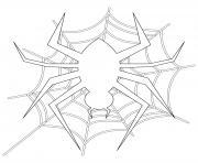 araignee man halloween dessin à colorier