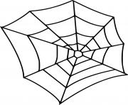 facile toile araignee dessin à colorier