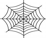 Simple toile araignee dessin à colorier