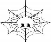 mignon araignee Spinning dessin à colorier