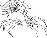 mignon Big araignee and dessin à colorier