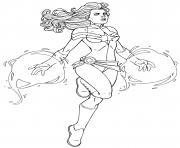 Super heroine Captain Marvel Avengers Endgame By JamieFayX dessin à colorier