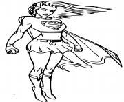 Super heroine Cool Supergirl dessin à colorier