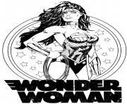 Super heroine wonder woman pour adulte dc comics dc comics dessin à colorier
