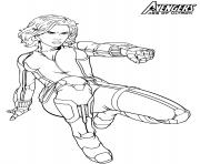 Super heroine Marvel Avengers Black Widow dessin à colorier