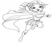 super heroine cartoon manga dessin à colorier