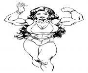 Super heroine She Hulk dessin à colorier