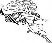 barbie super heroine princesse dessin à colorier